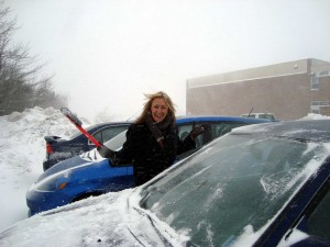 Me Cleaning The Windscreen