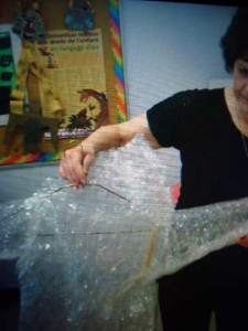 Bubble Wrap Sculptures