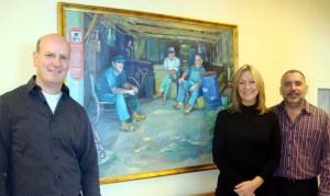 Earl-Fiona-Gary in the Joseph Prezament Gallery