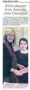 Visit to Greenfield Elementary School 27 Feb /Newspaper 6 Mar