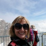 On the Zugspitze summit
