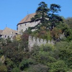 Medieval castle overlooking the valley