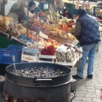 Chestnuts roasting on a cold Autumn day