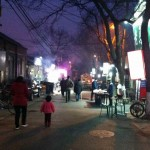 Walking home after dinner in a nearby hutong.