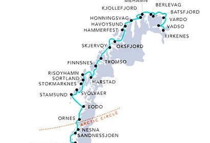 hurtigruten-route-map arctic circle
